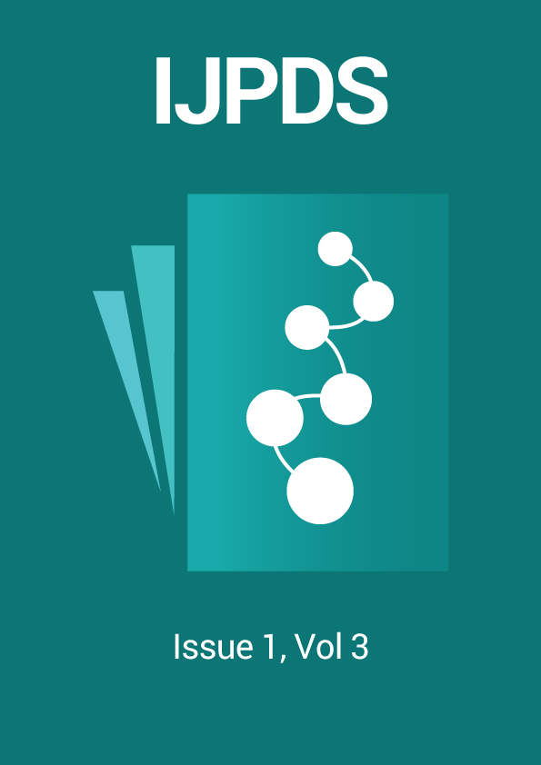 IJPDS Issue 1, Vol 3 cover